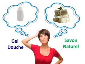 savon saponifié à froid naturel ou gel douche