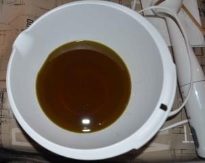huile olive et baie de laurier