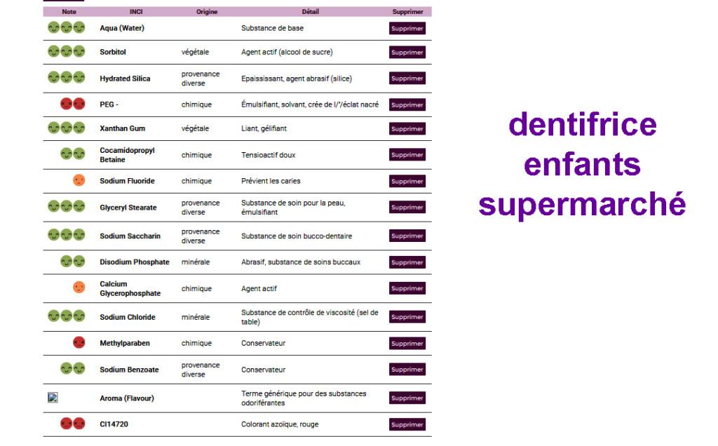 dentifrice enfant supermarche