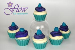 savon saponifié à froid cupcake